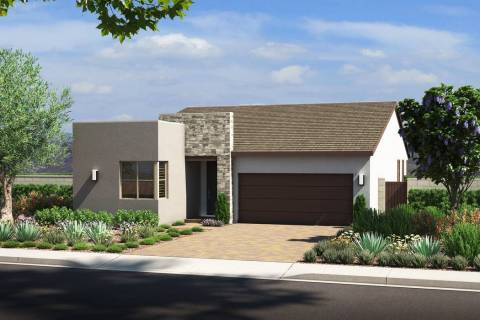 Pardee Homes' Larimar neighborhood in The Villages at Tule Springs in North Las Vegas has a n ...