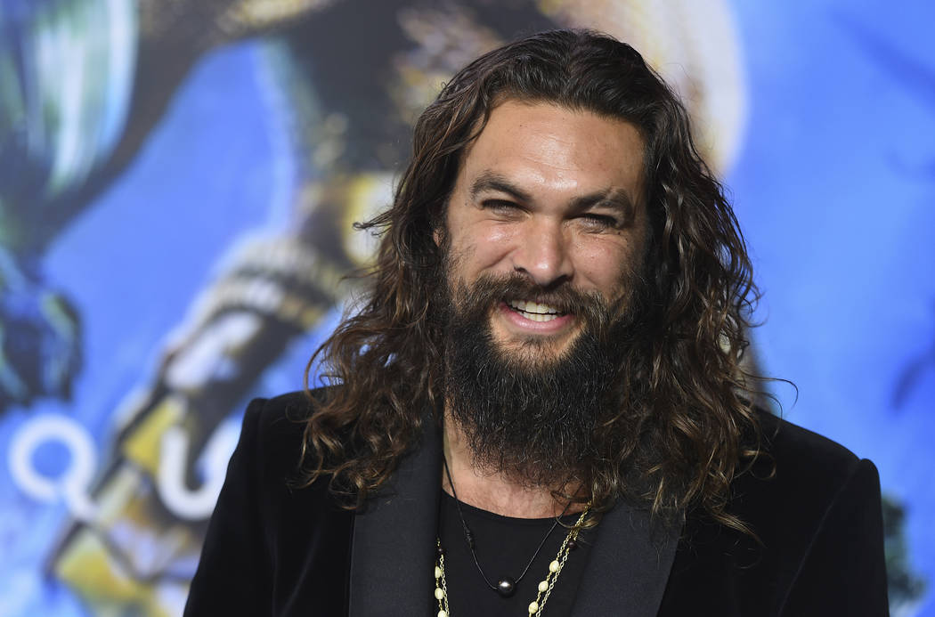 "In a Dec. 12, 2018, file photo, Jason Momoa arrives at the premiere of ""Aquaman"" at TCL Chinese ..."