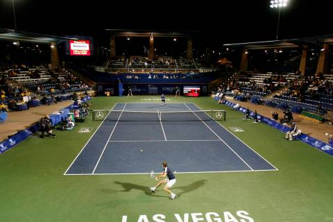 Julien Benneteau, of France, hits a return versus Lleyton Hewitt, of Australia, during the seco ...