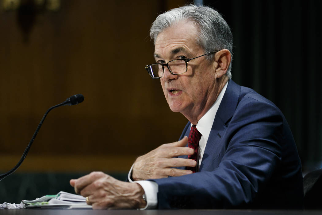 Federal Reserve Chair Jerome Powell presents the monetary policy report to the Senate Banking C ...
