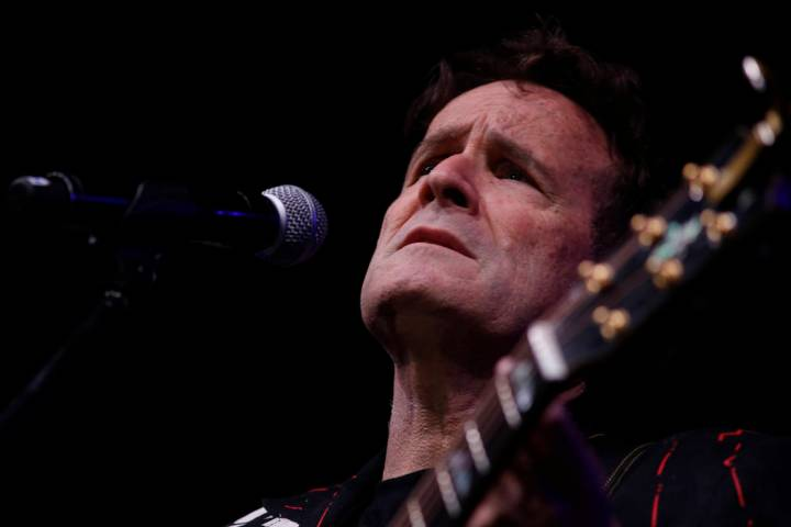 FILE - In this Saturday, Nov. 11, 2017 file photo, musician Johnny Clegg performs on stage duri ...