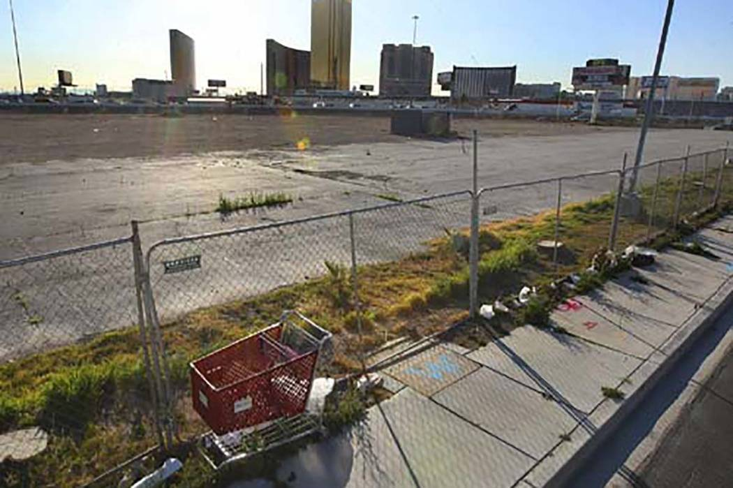 The former site of Scandia Family Fun Center. (Las Vegas Review-Journal file photo)