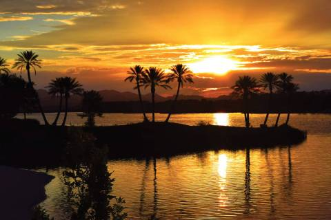 Lake Las Vegas at sunset. (Lake Las Vegas)
