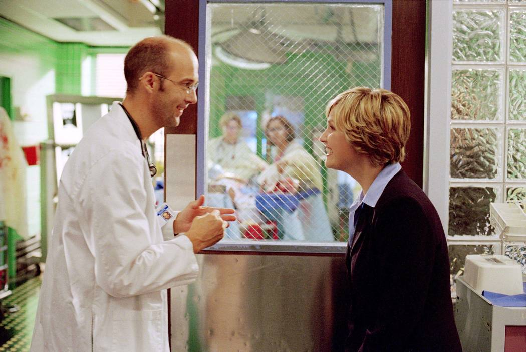 "ER -- NBC Series -- ""Never Say Never"" -- Pictured: (l-r) Anthony Edwards as Dr. Mark ..."