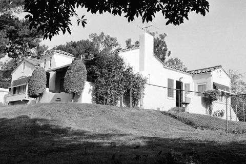 In this August 11, 1969 file photo the Hilltop home in Los Angeles' Los Feliz district, about f ...