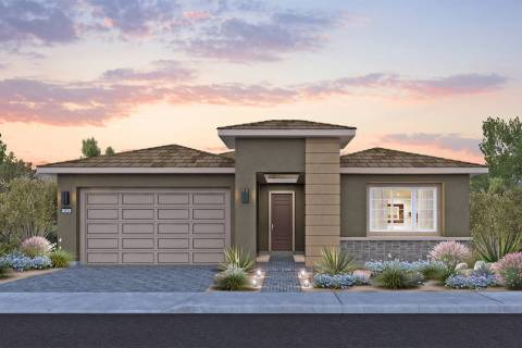 This artist's rendering shows what homes will look like in Del Webb's new Sun City community in ...