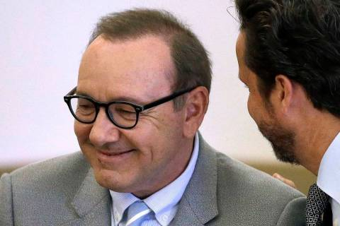 A June 3, 2019 file photo, shows actor Kevin Spacey listening to attorney Alan Jackson during a ...