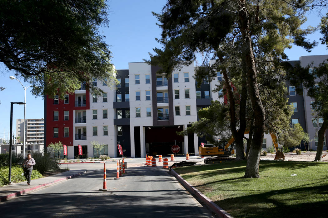 The Degree, a recently-opened 226-unit on-campus student housing community at UNLV Wednesday, J ...