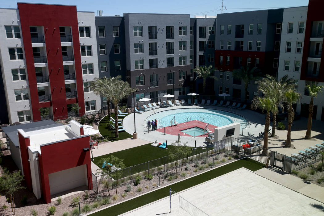 The Courtyard at The Degree, a recently-opened 226-unit on-campus student housing community at ...