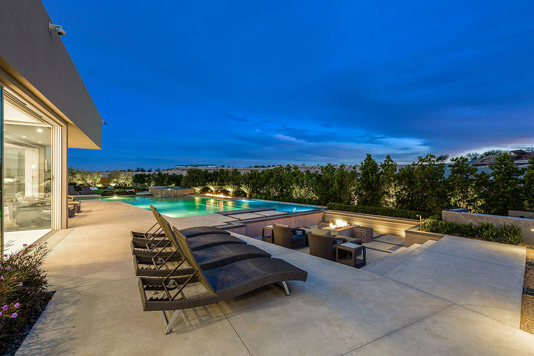 The backyard is built for entertaining. (Ivan Sher Group)