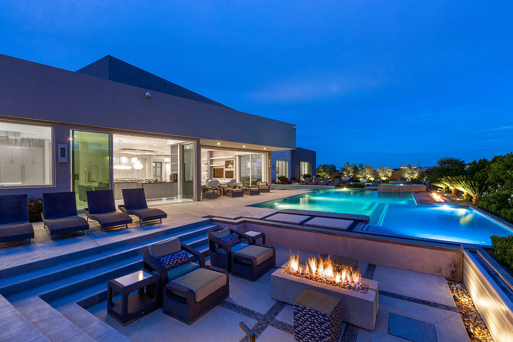 The backyard features a pool, spa and fire pit. (Ivan Sher Group)