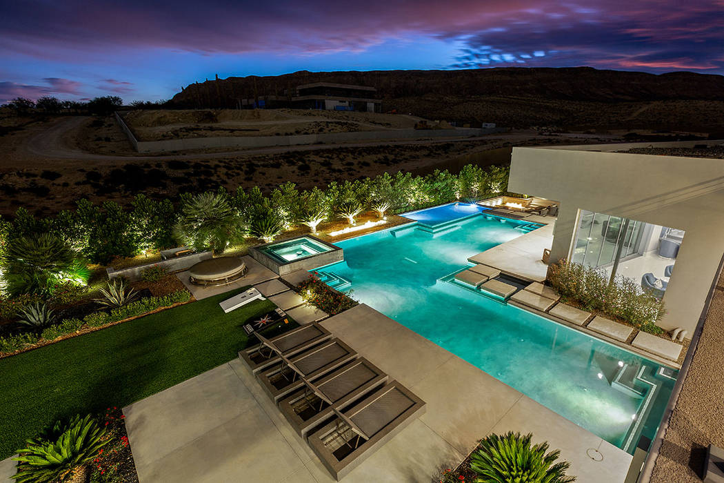 The home has views of the desert mountains. (Ivan Sher Group)