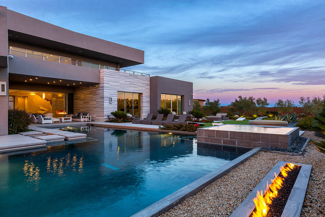 The two-story Summerlin home at 19 Flying Cloud is in a separate gated section of The Ridges, c ...