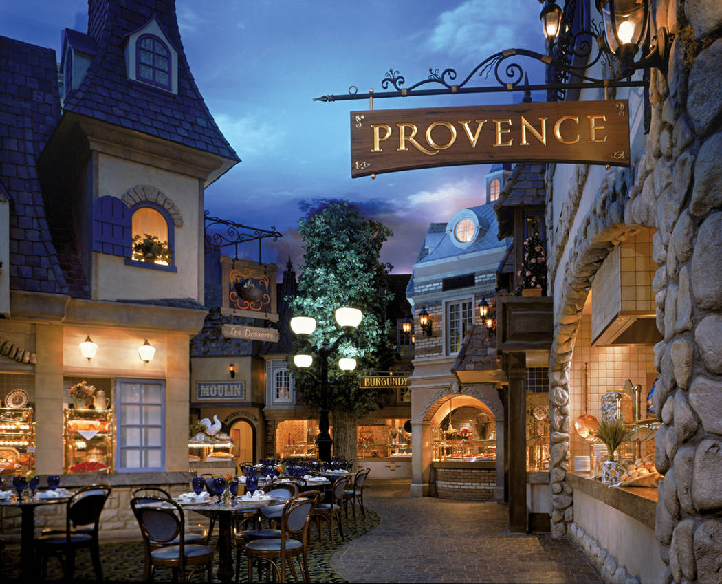 Le Village Buffet at Paris Las Vegas focuses on regional French favorites in both food and atmo ...