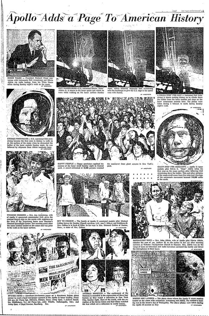 The Las Vegas Review-Journal on Monday, July 21, 1969.
