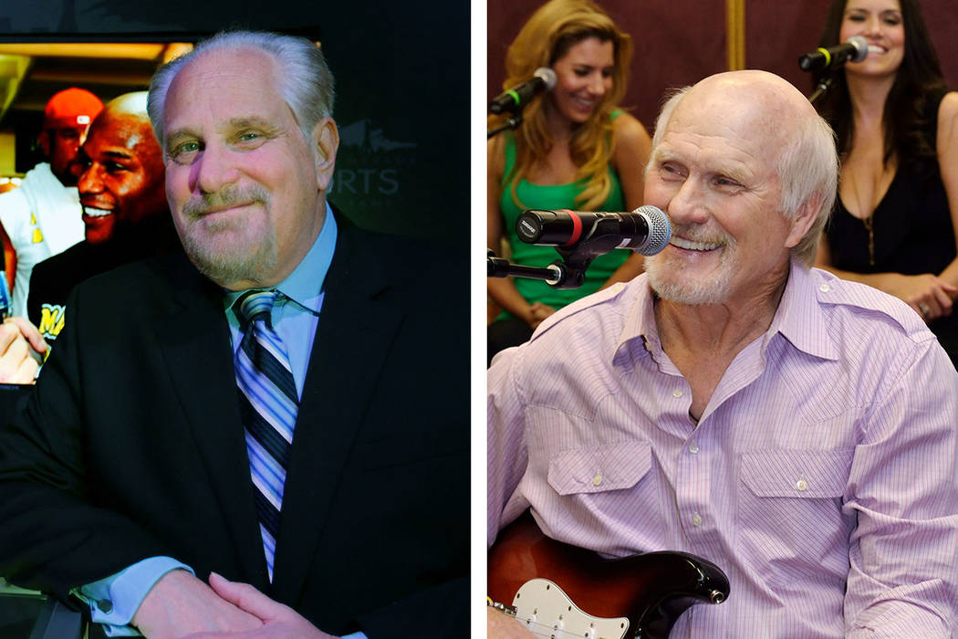 Al Bernstein, left, and Terry Bradshaw (Las Vegas Review-Journal/File)