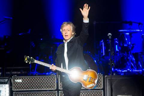 Paul McCartney performs at T-Mobile Arena in Las Vegas on Friday, June 28, 2019. McCartney is s ...