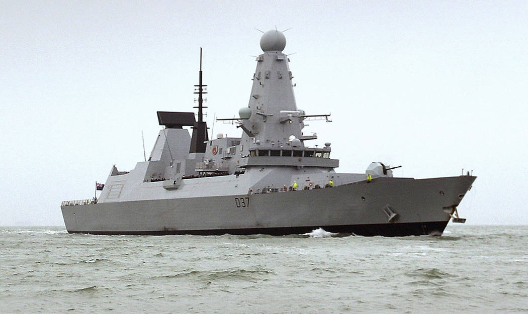 This undated Ministry of Defence handout shows the HMS Duncan, a Type 45 Destroyer, which will ...
