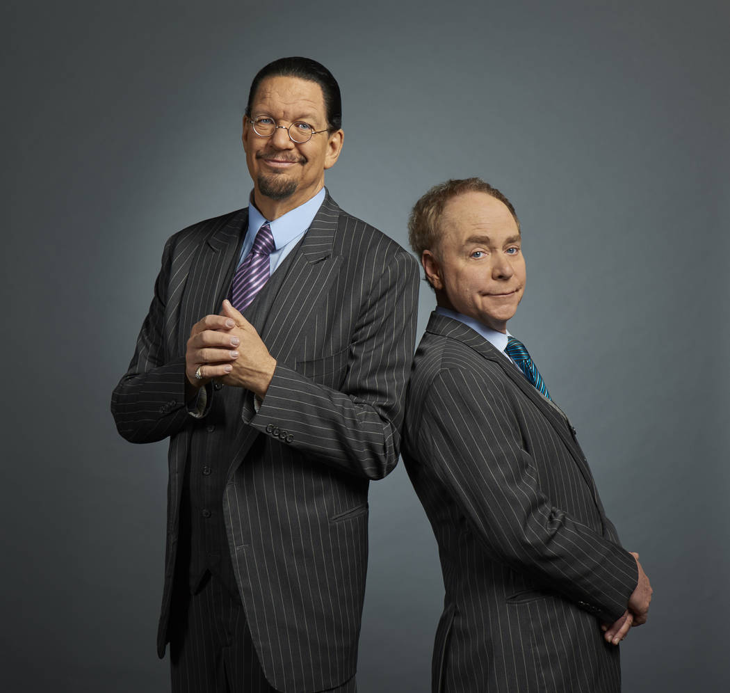 Penn & Teller make an appearance Friday at the Microsoft Inspire 2019 conference at T-Mobile Ar ...
