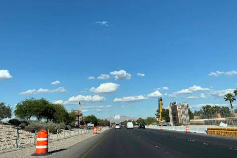 Traffic on a stretch of Summerlin Parkway will be restricted overnight several days next week f ...