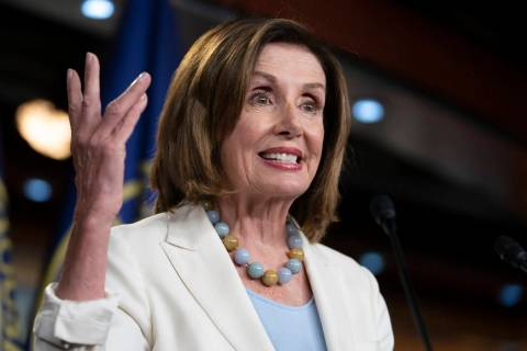 Speaker of the House Nancy Pelosi, D-Calif., holds a news conference on Capitol Hill in Washing ...