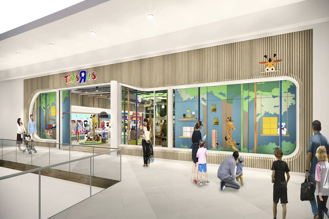 This undated artist rendering provided by Toys R Us shows an artist rendering of a new store, w ...
