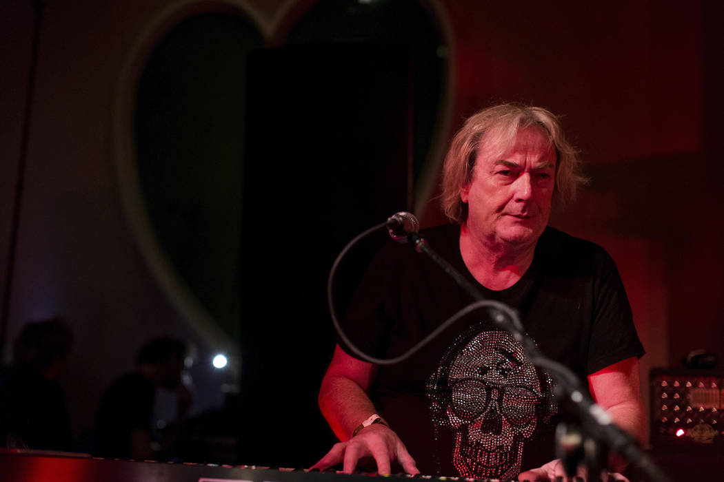 Geoff Downes performs at Jonathan Cain and Friends at Rose Bar on Saturday, April, 8, 2017 in N ...