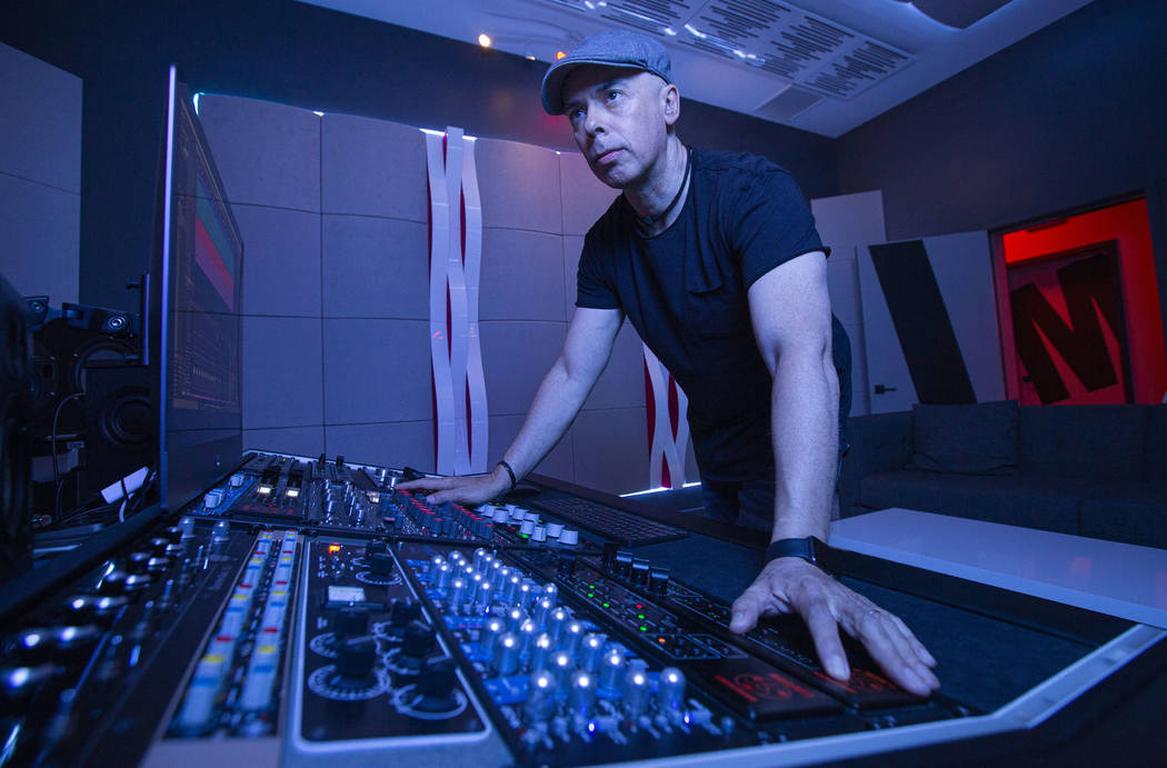 Mixing and Mastering Engineer Luca Pretolesi takes a portrait in his studio on July 17, 2019 in ...