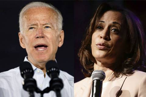 Joe Biden and Kamala Harris (The Associated Press)