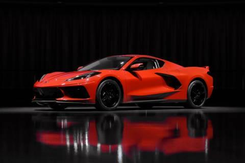 This June 24, 2019, photo shows a pre-production 2020 Chevrolet Corvette automobile in Warren, ...