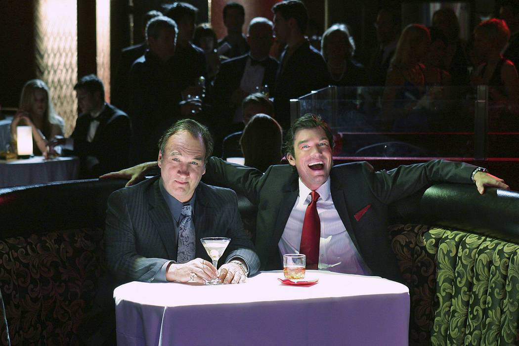 """The Defenders"" stars Jim Belushi, left, and Jerry O'Connell in a 2010 TV drama about two color ..."