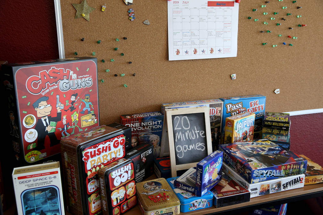 The 20 minute games section at Boarding School Games in Las Vegas, owned by Emily Labejof and M ...
