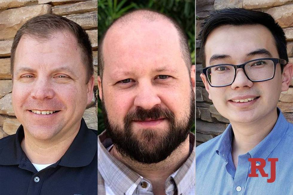 "Steve Adair, left, James ""J.J."" Wisdom and Brett McMahan (FEA Consulting Engineers)"