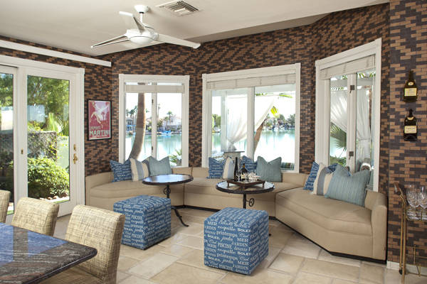 Somers Custom Furniture Division was commissioned to create a casual sitting area, where family ...