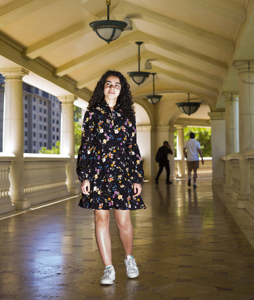 Salomee Levy poses for a portrait outside of the Bellagio in Las Vegas on Friday, July 19, 2019 ...