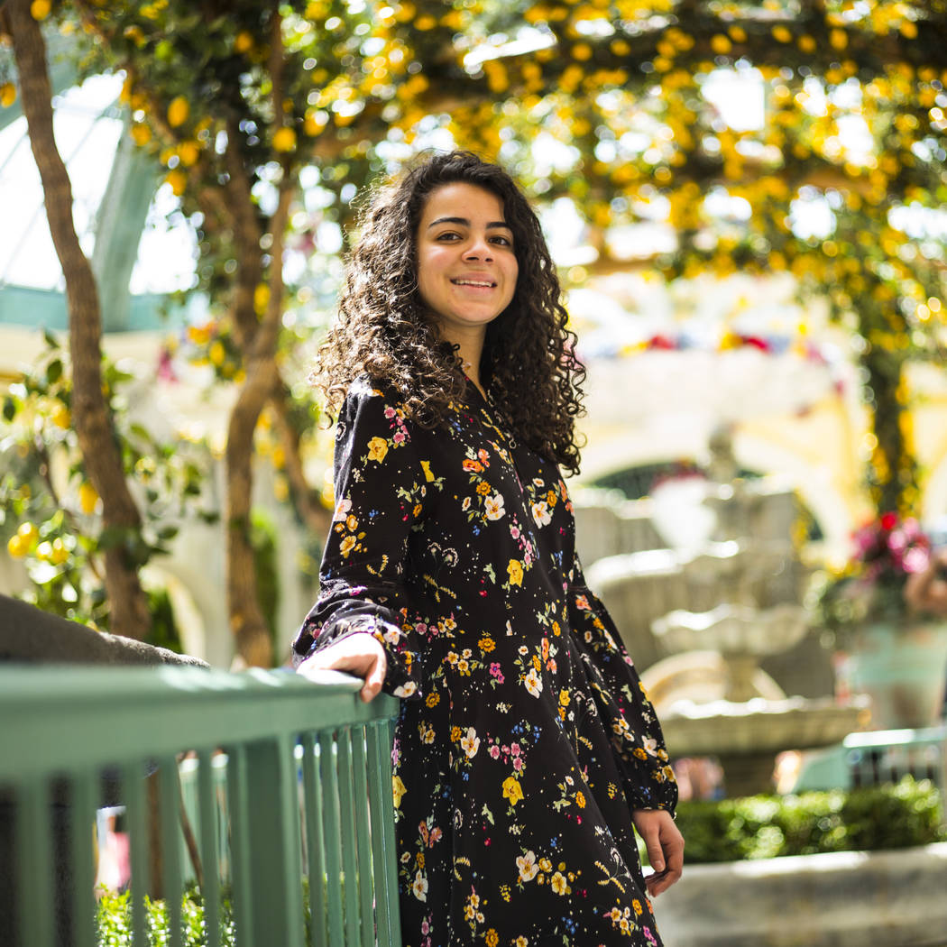 Salomee Levy poses for a portrait at the Bellagio in Las Vegas on Friday, July 19, 2019. (Chase ...