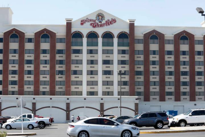 Arizona Charlie's hotel-casino on 740 S. Decatur Blvd. in Las Vegas. (Bizuayehu Tesfaye/Las Veg ...