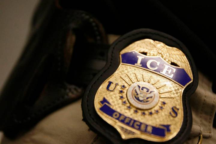 In this March 12, 2008, photo, Immigration and Customs Enforcement agents patrol for undocument ...