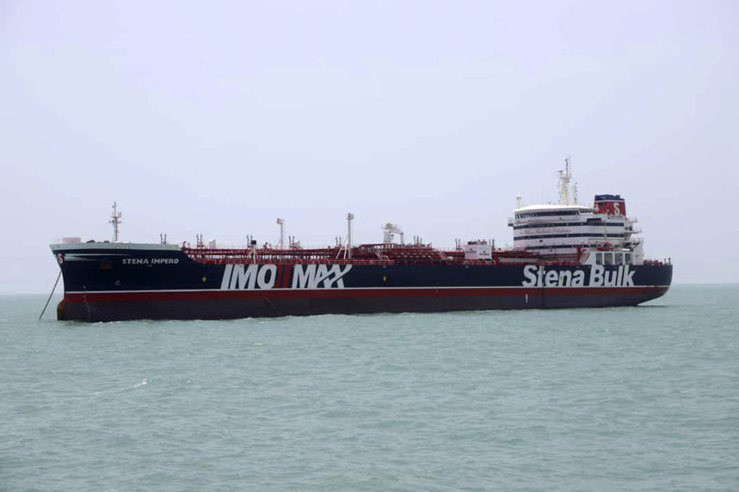 A British-flagged oil tanker Stena Impero which was seized by the Iran's Revolutionary Guard on ...