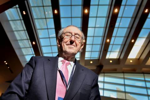 Cesar Pelli of Pelli Clarke Pelli Architects, which designed the Aria Resort and Casino. (Las V ...