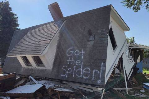On Monday, July 15, 2019, a Renner, South Dakota couple spray painted the side of their second ...