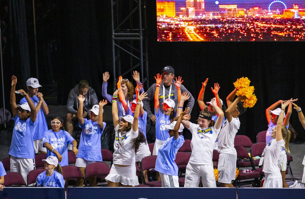 The Net Generation youth players help pump up the crowd as the Vegas Rollers face the Philadelp ...