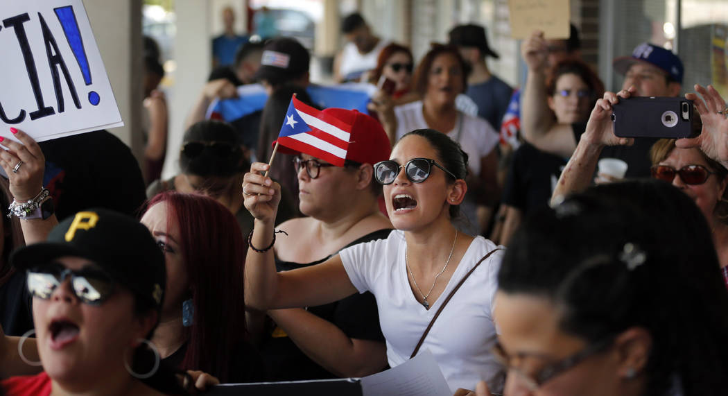 About 200-300 people from the North Texas (Dallas-Fort Worth area) Puerto Rican community gathe ...
