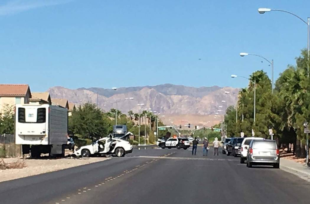 One person is fighting for their life after a white vehicle collided with a parked trailer near ...