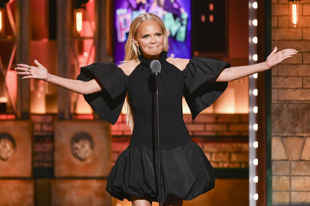 Kristin Chenoweth speaks at the 73rd annual Tony Awards at Radio City Music Hall on Sunday, Jun ...
