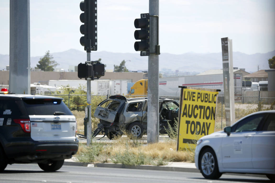 At least one person was killed in a multi-vehicle crash at the intersection of Nellis Boulevard ...
