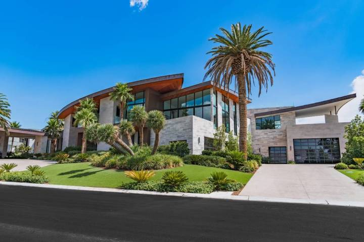 Developer Jim Rhodes sold his Las Vegas megamansion at 5212 Spanish Heights Drive for $16 milli ...