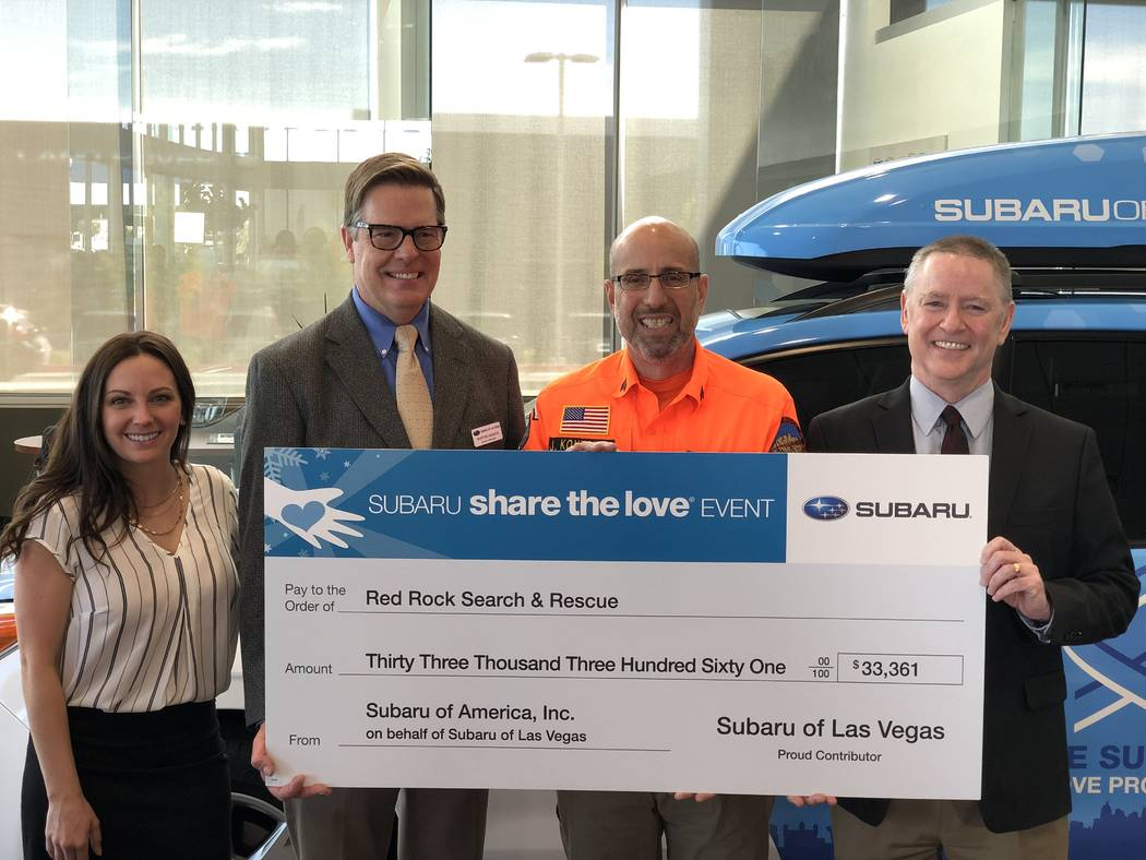 Findlay Automotive Group recently donated a check for $33,361 to Red Rock Search and Rescue. In ...