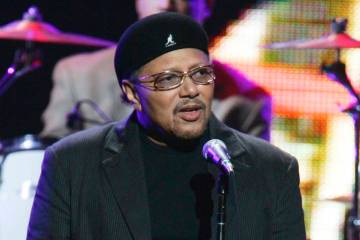 """Singer Art Neville performs during the """"From the Big Apple to the Big Easy"""" benefit concert in ..."""