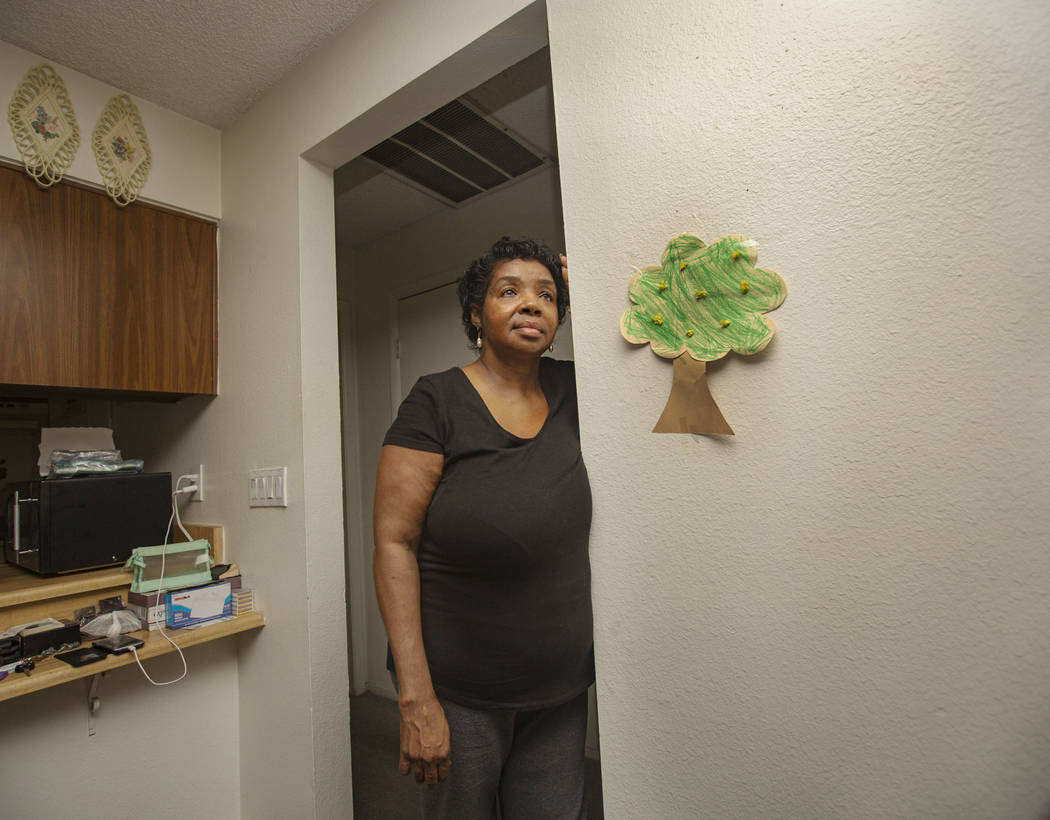 Ruby Davis, 63, is seen at her apartment at Sunset Terrace in Las Vegas, Monday, July 22, 2019. ...